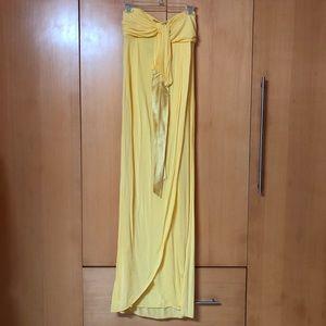 BEBE maxi strapless long dress